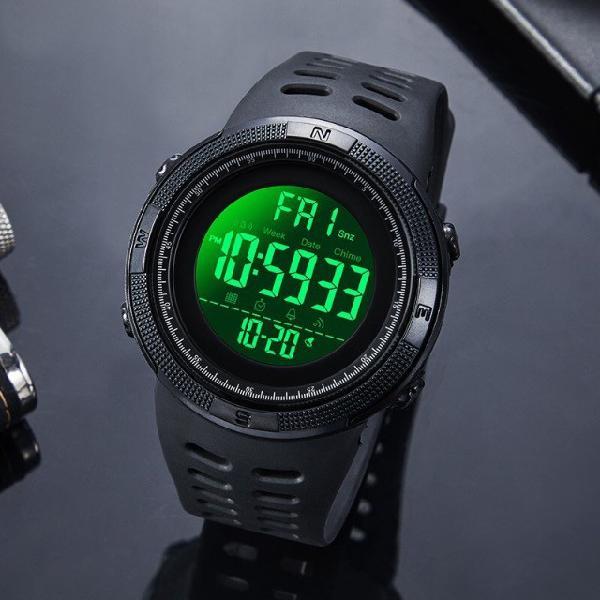 Relógio masculino esportivo a prova da água skmei 1251