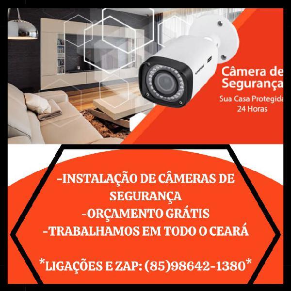 Câmeras de segurança - instalação em todos os bairros
