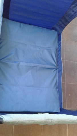 Berço dobrável portátil infanti - azul - pinteiro