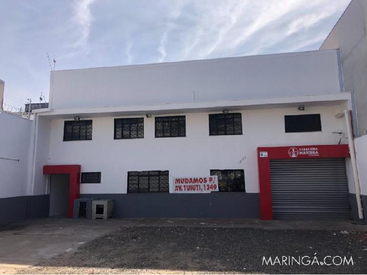 Aluga-se barracão comercial - av laguna- zona 03 - maringá