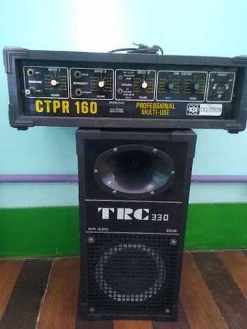 Amplificador + caixa de som
