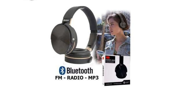 Fone de ouvido 950 everest bluetooth preto radio mp3