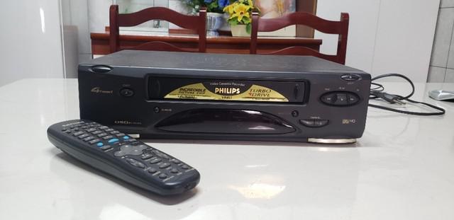 Vídeo cassete philips tubo drive + controle original