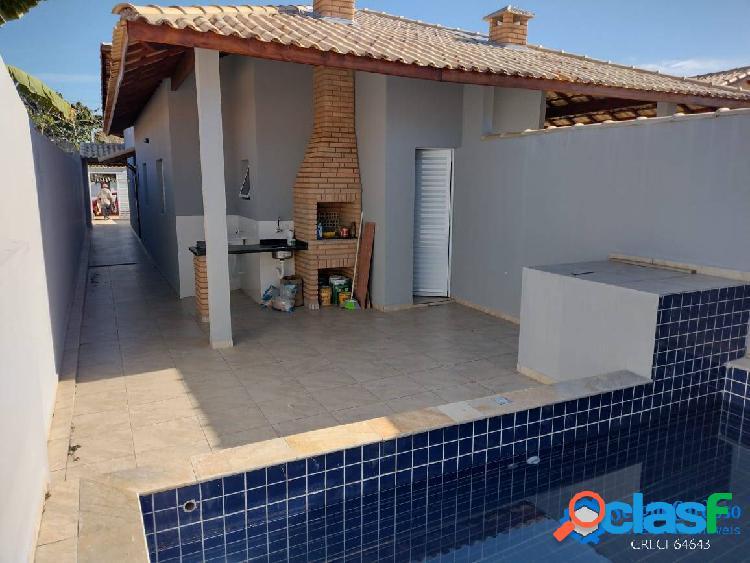 Casa nova=piscina=acabamento=primoroso=moradores=lado praia-itanhaém s/p
