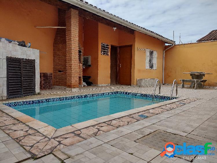 Casa com piscina- 3 dorm + edícula -150m praia -campos elíseos- itanhaem-sp