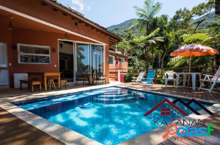 Casa 4 dormitórios com piscina - praia morro do félix ubatuba litoral norte