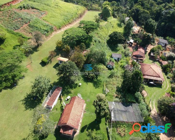 Sitio com cachoeira em nazaré paulista - fácil acesso 200 me