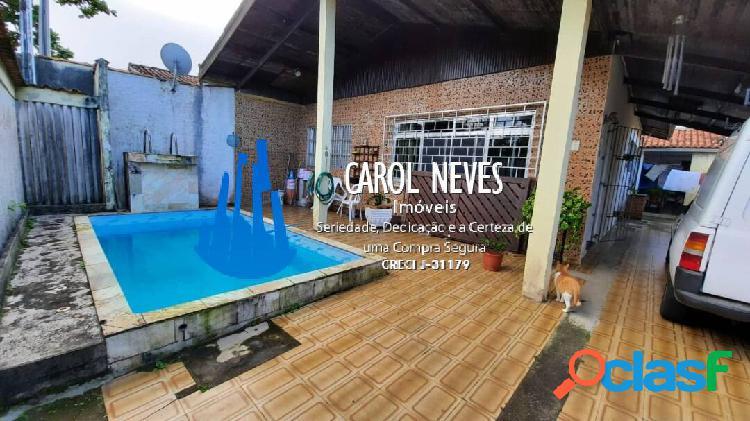 Casa isolada 2 dormitórios com piscina 60 metros da praia suarão itanhaém