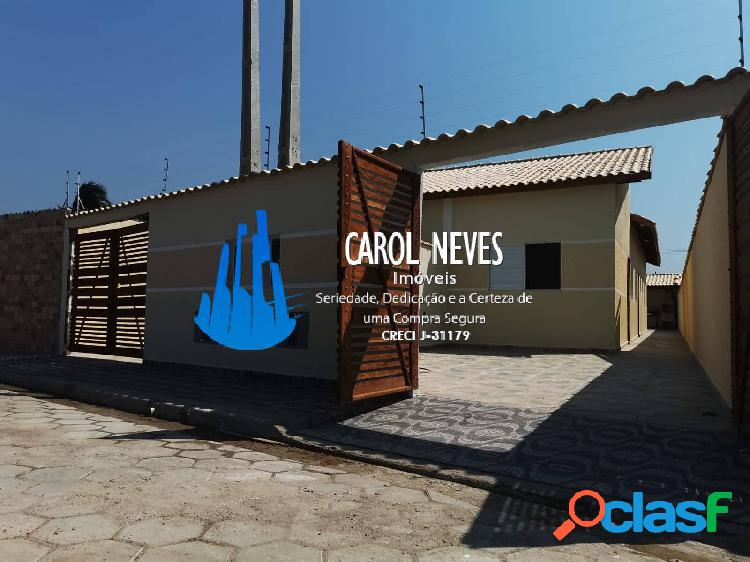 Casa nova 2 dormitórios piscina financiamento bancário itanhaém