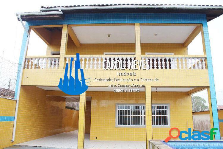 Sobrado 4 dormitórios suíte piscina churrasqueira lado praia loty itanhaém