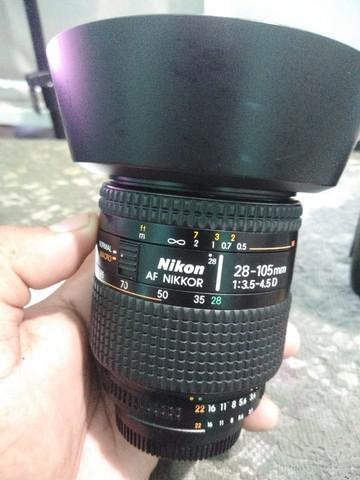 Lente nikon 28 105mm macro....lente para cameras fx ou crop