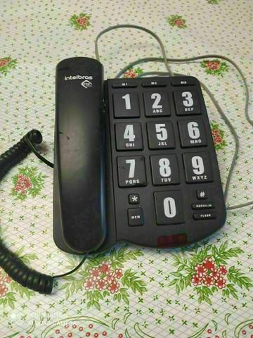 Telefone com fio tok fácil intelbras com teclas grandes *