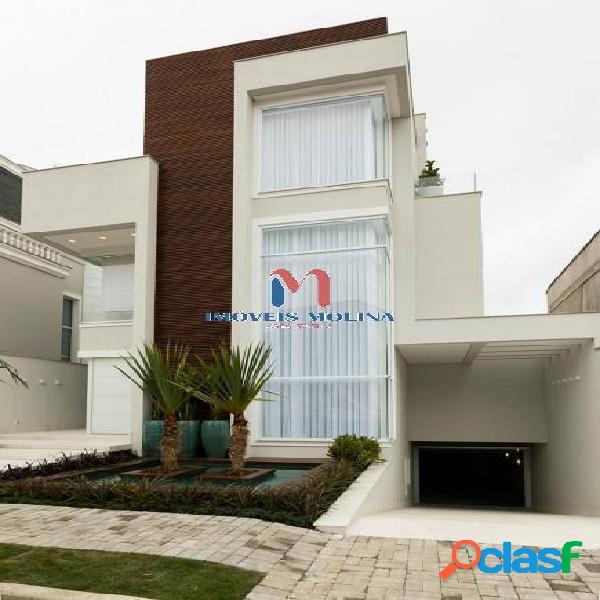 Linda casa com 800m² - cond. espaço cerâmica 4 suítes e 7 vagas