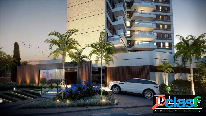 Apartamentos de metragens de 106m² e 145m² no brooklin