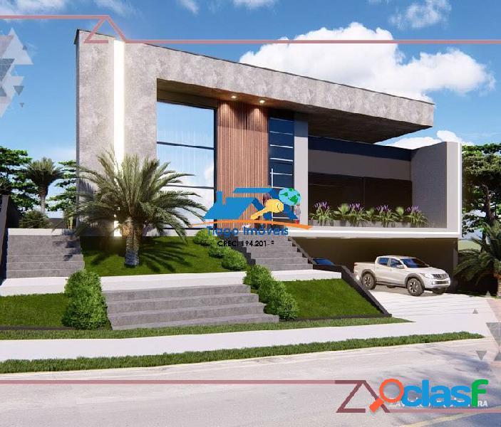 Casa em construção alto padrão no condomínio shamballa iii