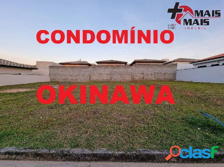 Condomínio fechado okinawa lote terreno 190m² próx ems e ibm