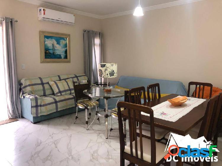 Apartamento mobiliado, 2 dormitórios, 80m2, massaguaçu - caraguatatuba/sp