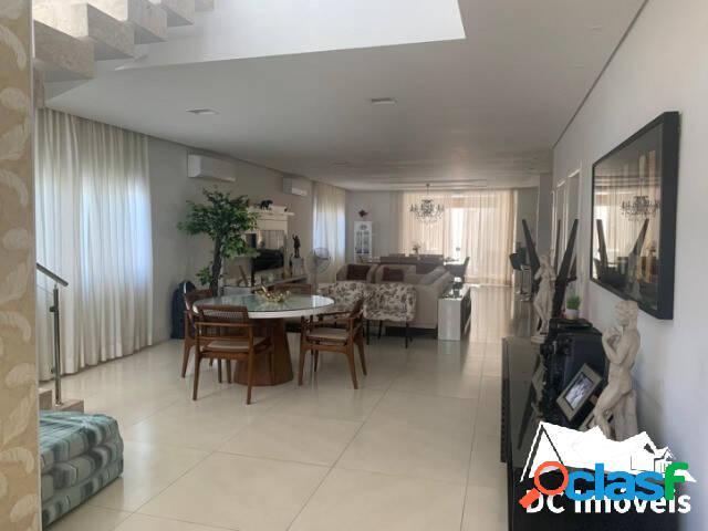 Casa alto padrão, 5 dormitórios, 406m² - pontal de santa - caraguatatuba/sp