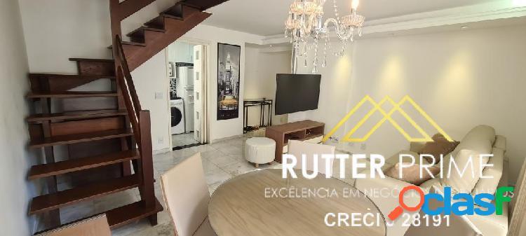 Belíssimo apartamento duplex todo mobiliado para venda