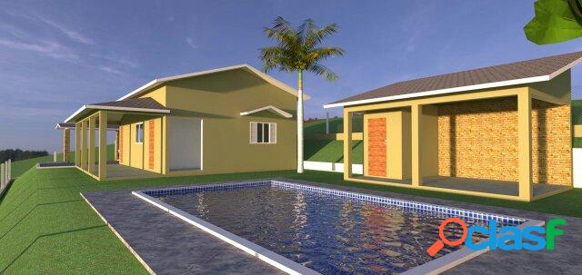 Chácara pinhalzinho nova casa piscina e churrasqueira r$ 320 mil!