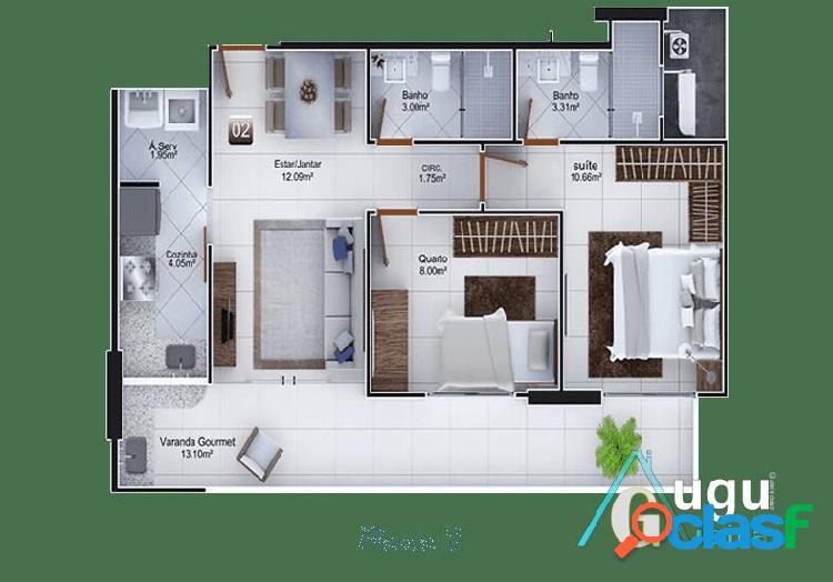 Apartamento 02 quartos guarapari/es centro