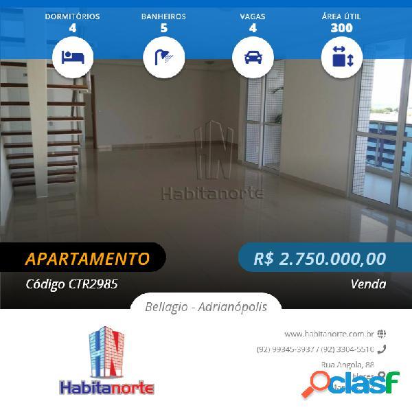 Condomínio residencial bellagio, venda de aptos em manaus.