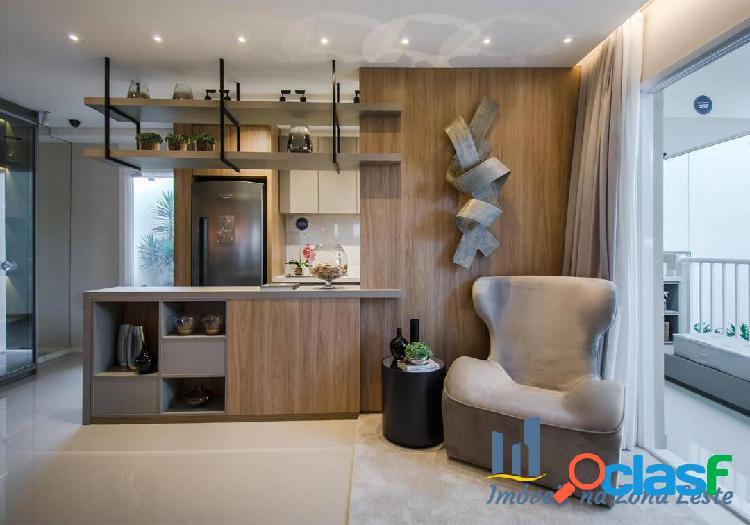 Apartamento 2 dorms, suíte, sem sacada, 40m², vaga - Belém 1