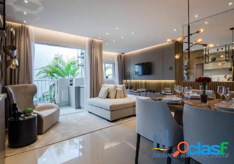 Apartamento 2 dorms, suíte, sem sacada, 40m², vaga - Belém 2