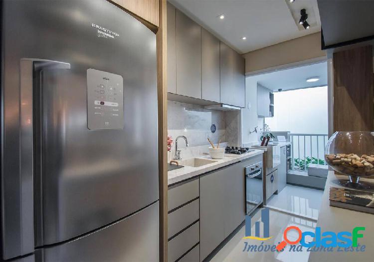 Apartamento 2 dorms, suíte, sem sacada, 40m², vaga - Belém 3