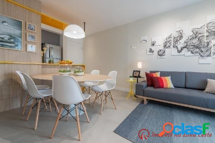 Apartamento 3 dorm, suíte, sacada, 59m², vaga - belém