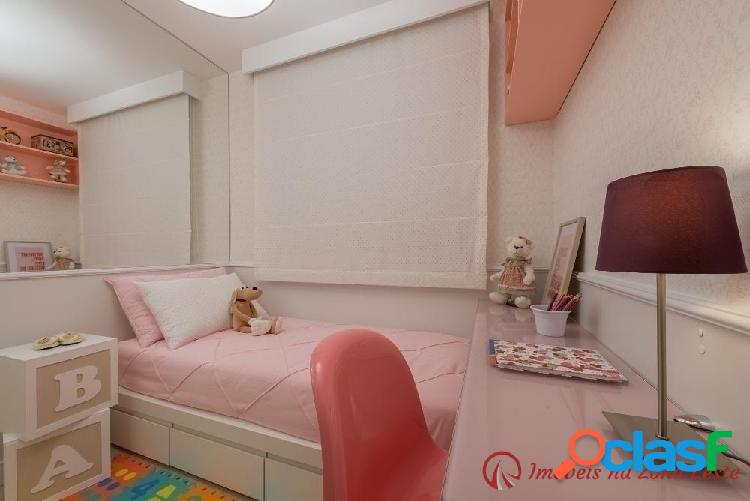 Apartamento 3 dorm, suíte, sacada, 59m², vaga - Belém 2