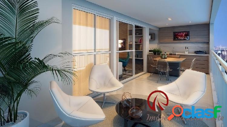Apartamento garden 3 dorms, suíte, 122m², vaga, varanda, pronto - belém