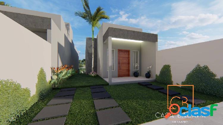 Belíssimas casas lineares em bairro nobre próximo à lagoa