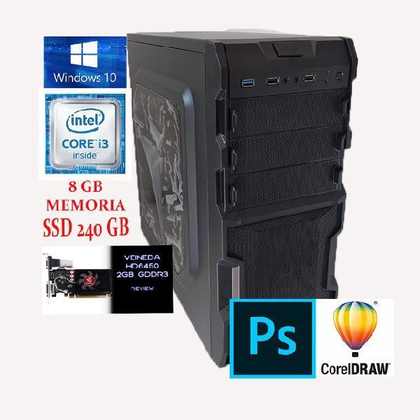 Pc computador i3 2° | 8gb | ssd 240gb | placa de video 2gb