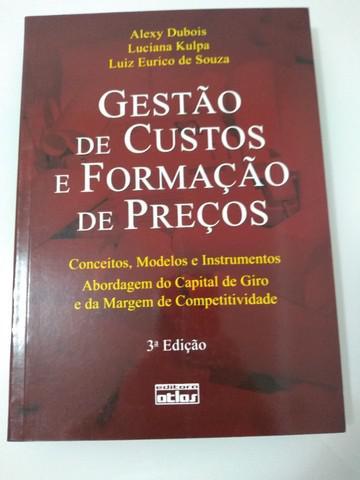 Livro gestão de custos e formação de preços