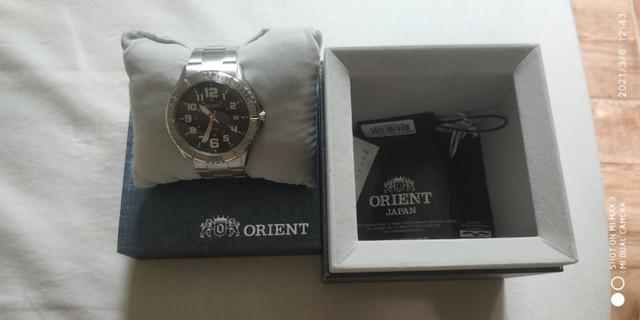 Relógio orient série prata