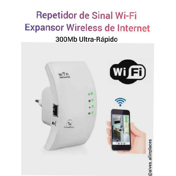 Repetidor de sinal wi-fi expansor de internet 300mb