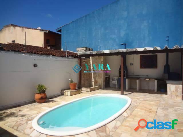 Casa na praia grande com 7 quartos, 5 suítes, piscina -