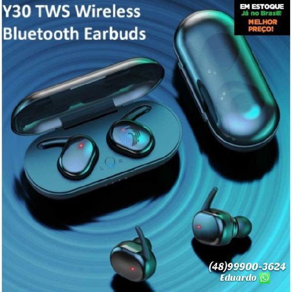 Fone de ouvido sem fio esportivo bluetooth y30 - novo