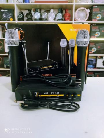 Kit 2 microfones sem fio profissional