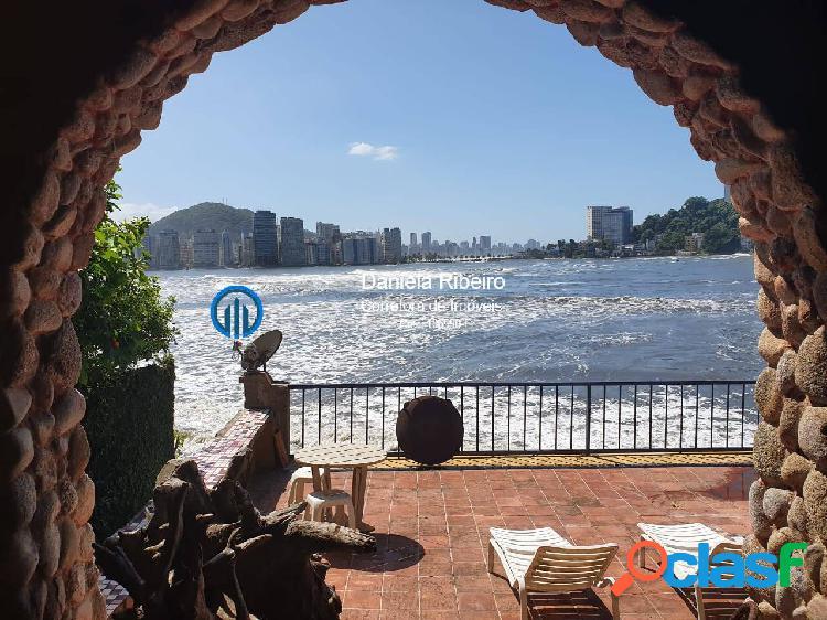 Frente mar! 400m² casa- 3 dormitórios(1suíte),deck com churrasqueira-3vagas