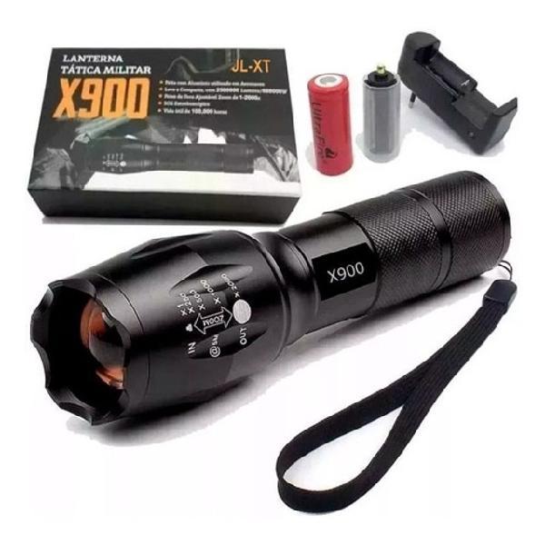 Lanterna tática policial militar bateria recarregável -