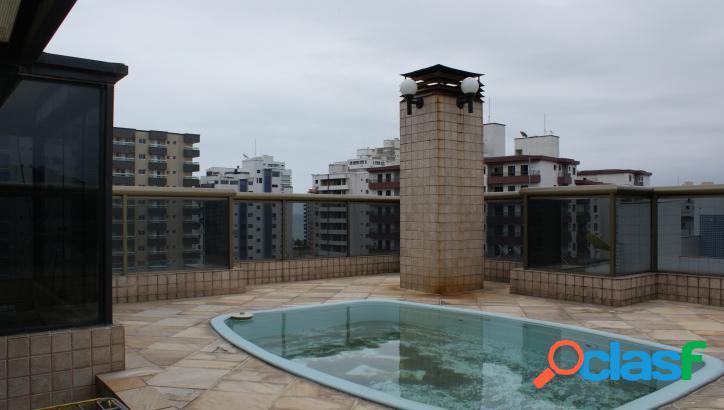 Vende cobertura triplex 3 suites, piscina, forte,p.grande