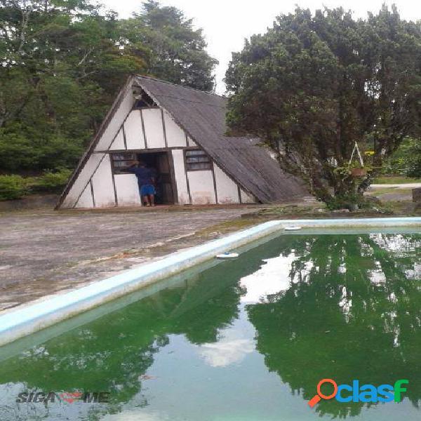 Chácara à venda, 5800 m² por r$ 450.000 - penteado - embu-guaçu/sp