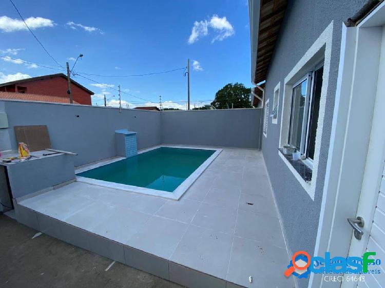 Casa nova c/ piscina=lado praia=comercio=moradores=itanhaém s/p