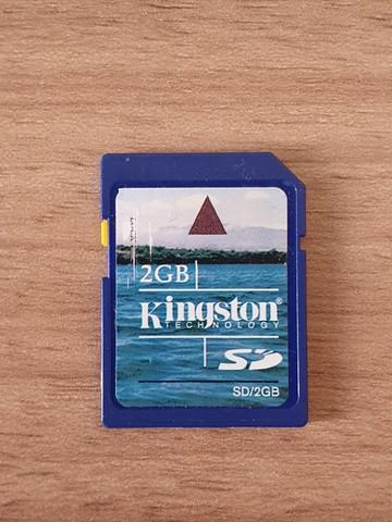 Cartão sd kingston 2gb (original)