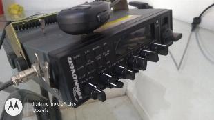 Rádio px amador hannover br9000- ptt original c/ antena
