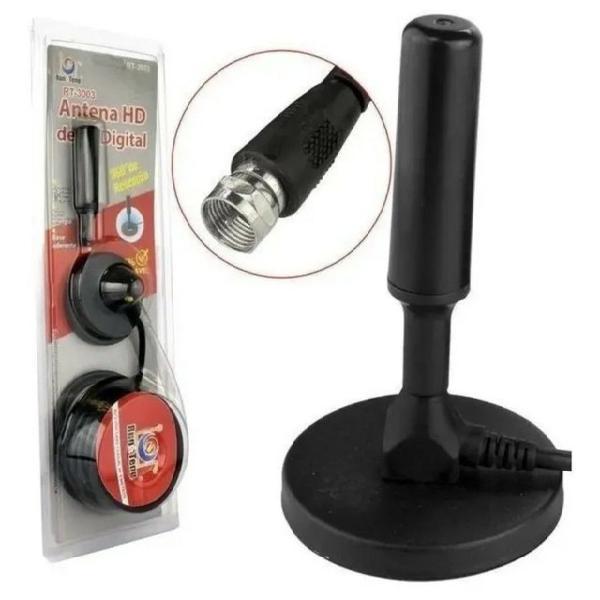 Antena digital amplificada hdtv/uhf/vhf interna e externa 5