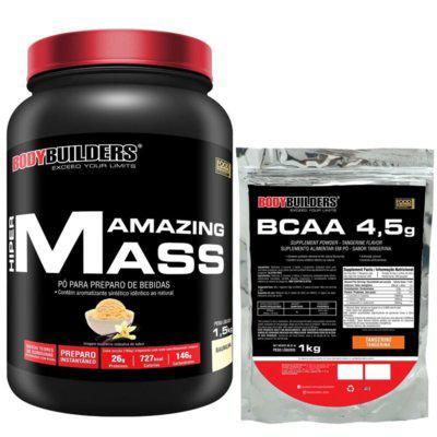 Hiper amazing mass 1,5kg bcaa 4,5 1kg bodybuilders