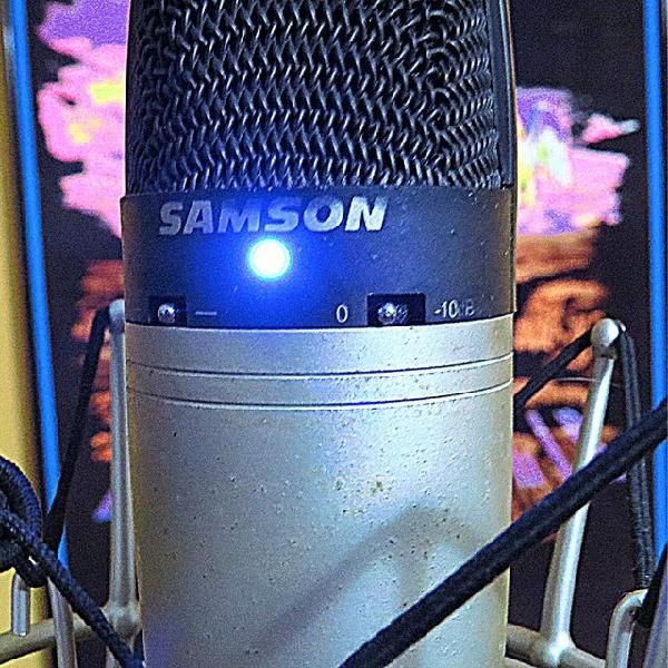 Microfone condensador profissional samson c03 + case